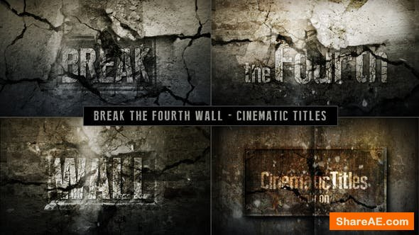 Videohive Cinematic Titles - Breaking The Fourth Wall