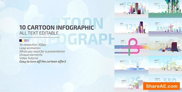 Videohive 10 Cartoon Infographic / Economic Explainer Video Toolkit 4K / Business Presentation