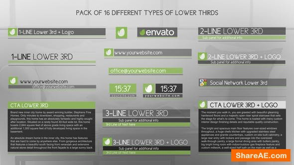 Videohive Discreet Simple And Modern Lower Thirds Package