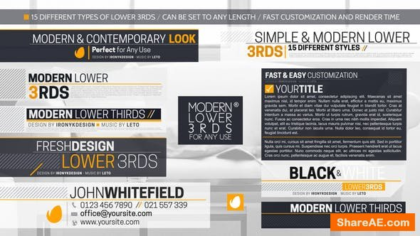 Videohive Modern And Simple Lower Thirds Package