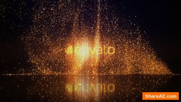 Videohive Gold Glitters Logo Reveal