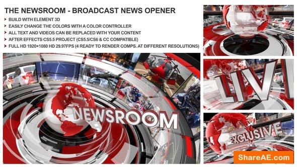 Videohive The Newsroom - Broadcast Design News Opener