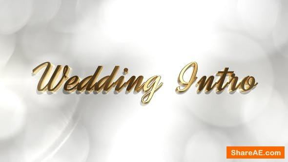 Videohive Wedding Intro 21879185