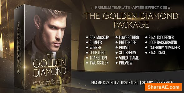 Videohive The Golden Diamond Awards Package