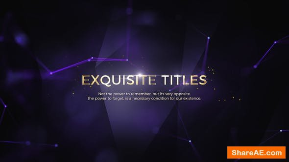 Videohive Exquisite Titles