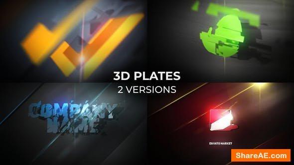 Videohive 3D Plates Logo