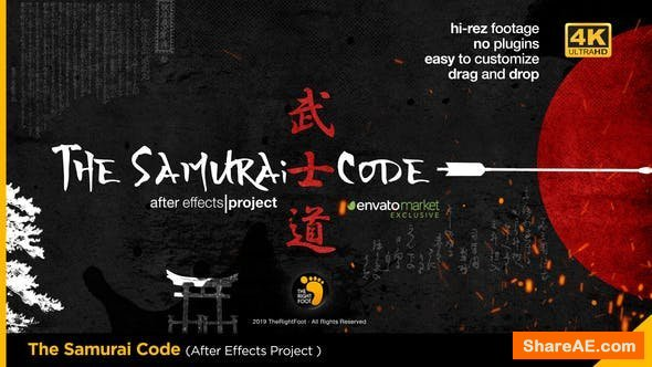 Videohive The Samurai Code Opener