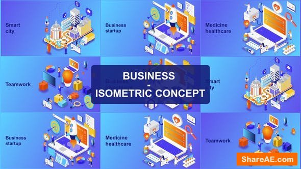 Videohive Business - Isometric Concept