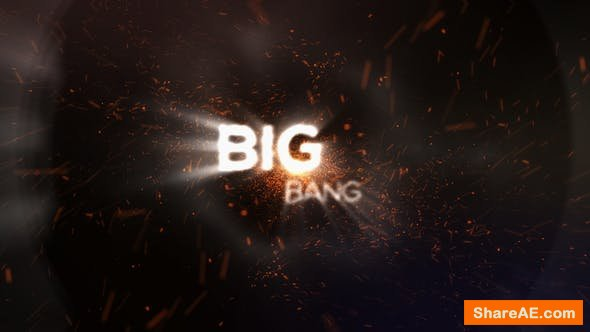 Videohive Big Bang Particle Logo Reveal
