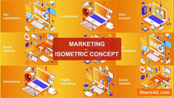 Videohive Marketing - Isometric Concept