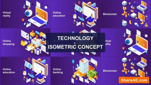 Videohive Technology - Isometric Concept