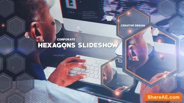 Videohive Hexagon Slideshow