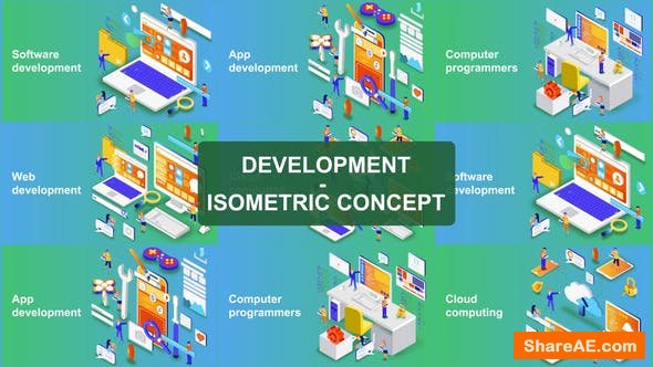 Videohive Digital Development - Isometric Concept