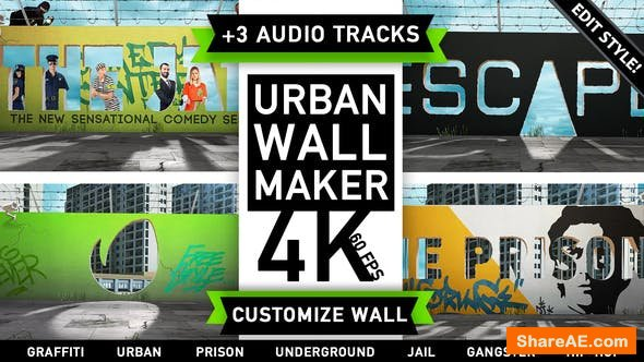 Videohive Urban Wall Kit | Graffiti Street Art