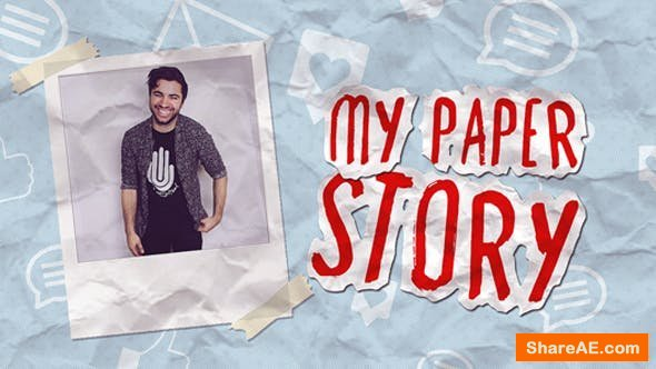 Videohive My Paper Story