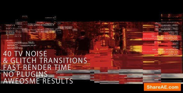 Videohive TV noise & Glitch Transitions