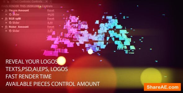 Videohive Colorful Light Logo Reveal