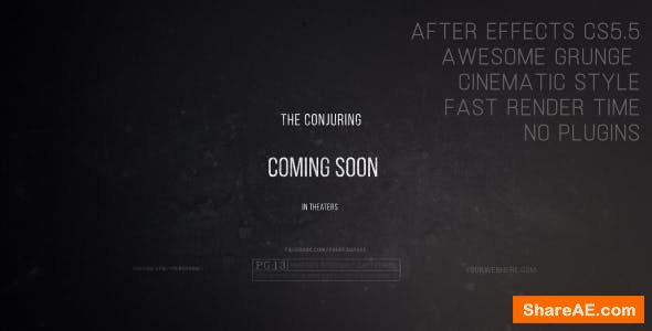 Videohive The Conjuring - Cinematic Trailer