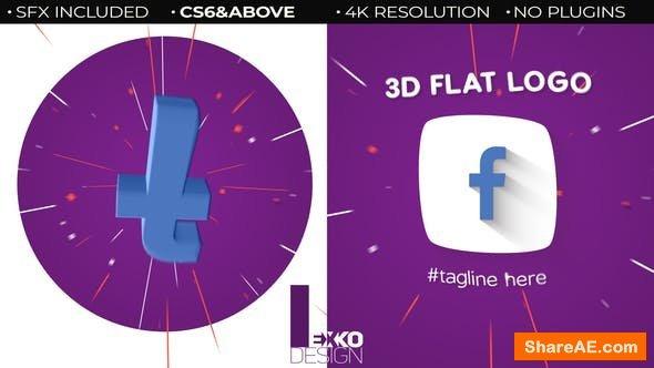 Videohive 3D Flat Logo