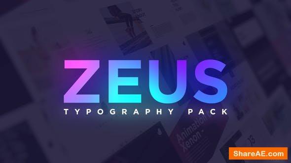 Videohive Minimal Typography Pack | Zeus