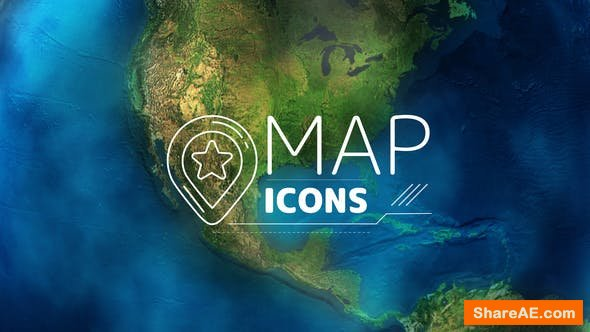 Videohive Map Icons