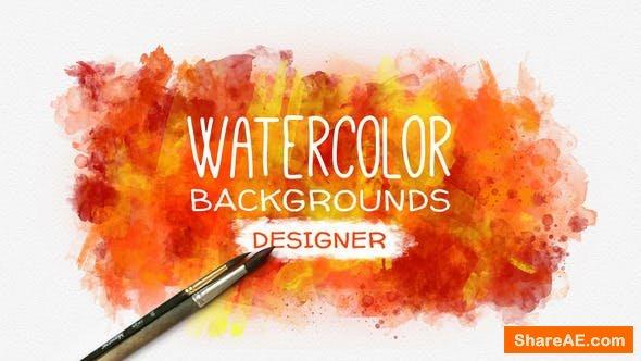 Videohive Watercolor Background Designer