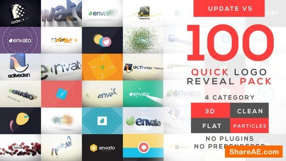 Videohive Quick Logo Reveal Pack v5 - After Effects Project