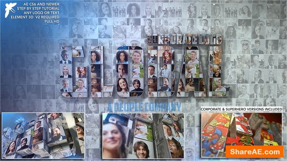 Videohive Corporate Mosaic Logo 23392349