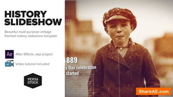 Videohive Burned History Frames Slideshow