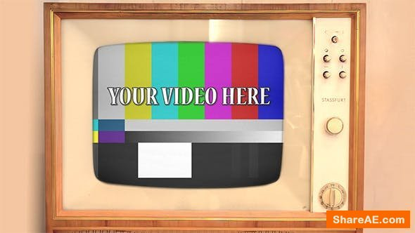 Videohive Retro TV with Alpha Channel - Motion Graphics