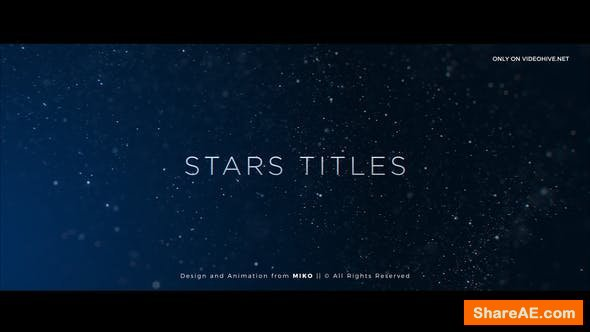 Videohive Stars Titles