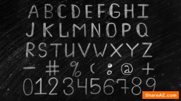 Videohive Chalk Alphabet