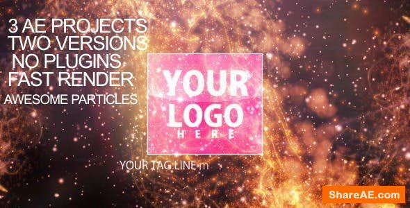 Videohive Particles-flare Logo Opener 2