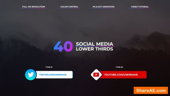 Videohive Social Media Lower Thirds 23165554