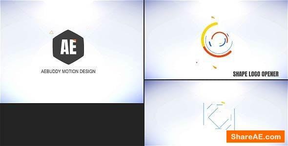 Videohive Shape Logo Opener - Teja