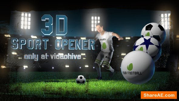 Videohive Soccer Night - 3D Sport Opener