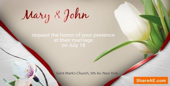 Videohive Wedding Invitation e-card