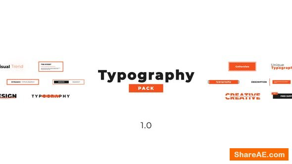 Videohive Creative Typography Pack