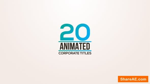 Videohive 20 Animated Titles 18722056