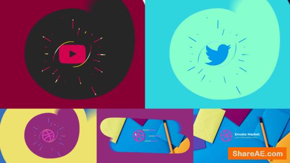 Videohive Flat Minimal Logo Reveal