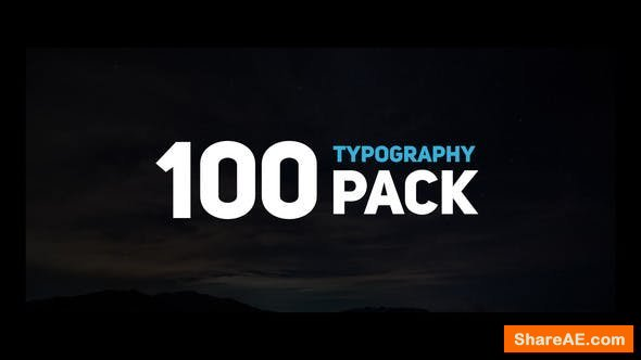 Videohive 100 Typography Pack