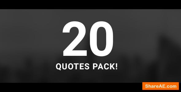 Videohive 20 Quotes Pack