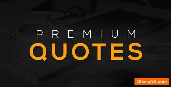Videohive 15 Premium Quotes