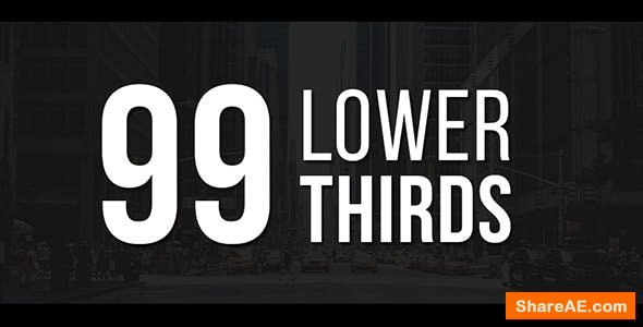 Videohive 99 Lower Thirds Pack