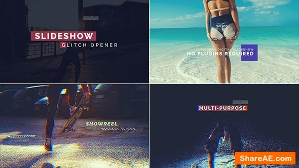 Videohive Glitch Slideshow 19702954