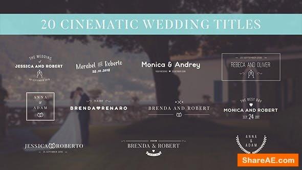 Videohive Wedding Titles 18201208