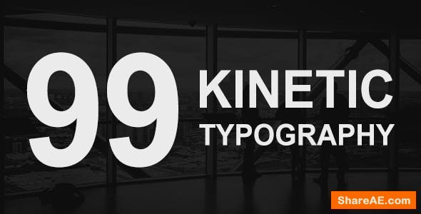 Videohive 99 Kinetic Titles Pack