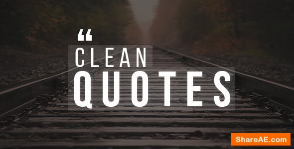 Videohive 30 Clean Quotes Pack!