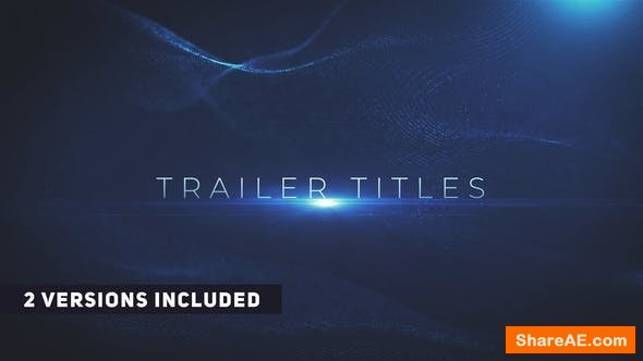 Videohive Cinematic Trailer Titles 22682178