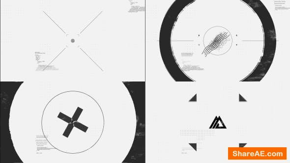 Videohive Black White Glitch Logo